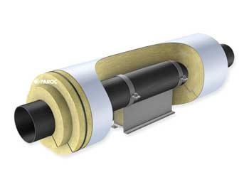 One layer solution with PAROC Pro Lock 140 pipe sections.